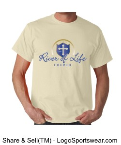 River of Life Adult T-shirt Design Zoom